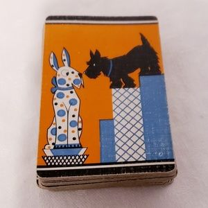 Vintage Mid-century Era Scottie Dog Playing Cards